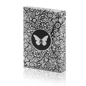 Butterfly Playing Cards Black & White Marked