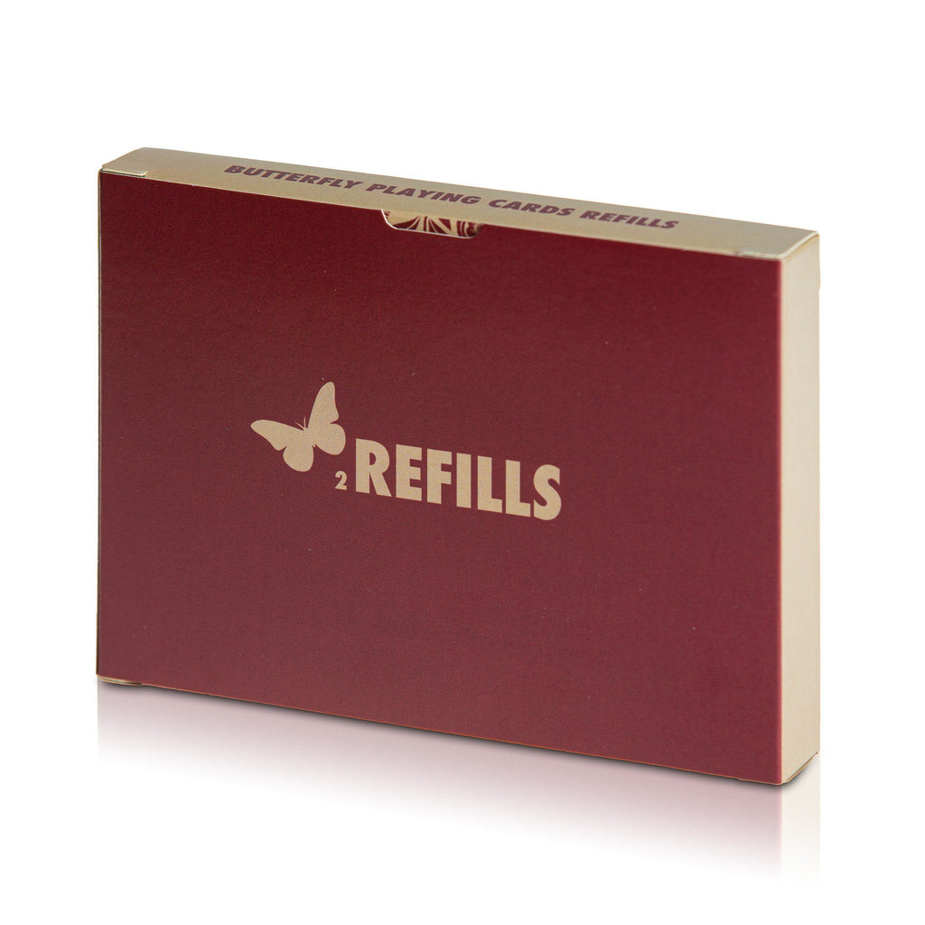 Butterfly Playing Cards 2 Refills Red