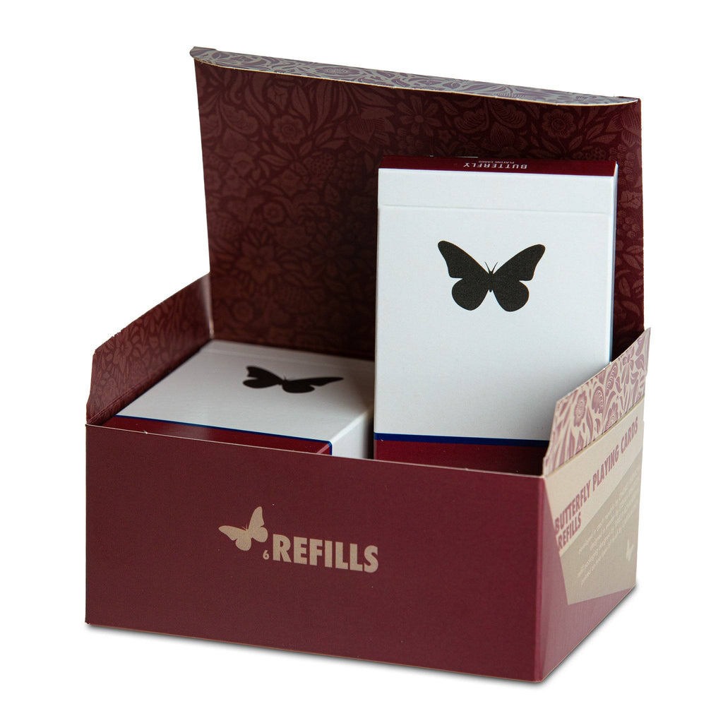 6 Butterfly Playing Cards Refill Decks