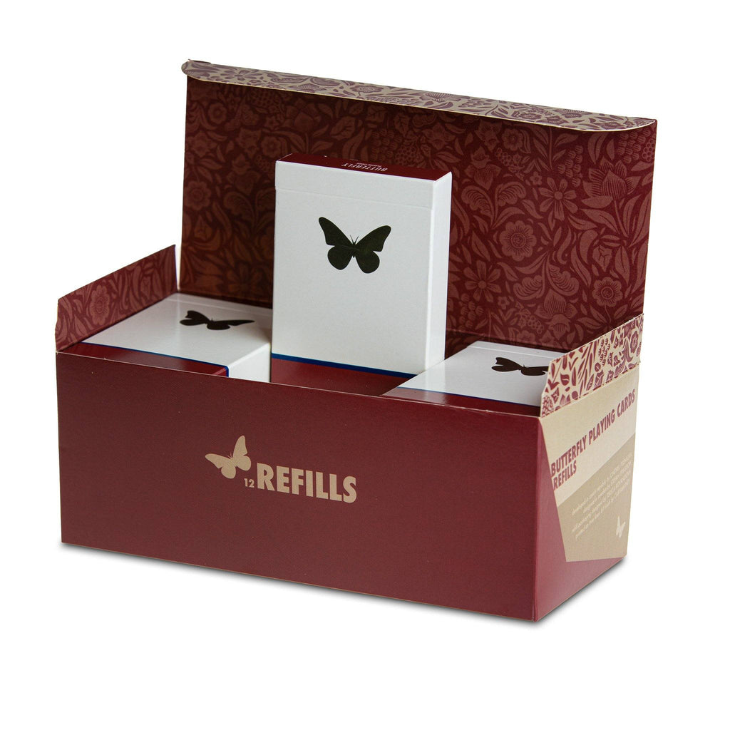 12 Butterfly Playing Cards Refills