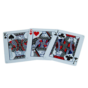 Butterfly Playing Cards Black & Silver