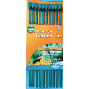 Moss Adjustable Reusable Inline Garden Ties - 10 Pack