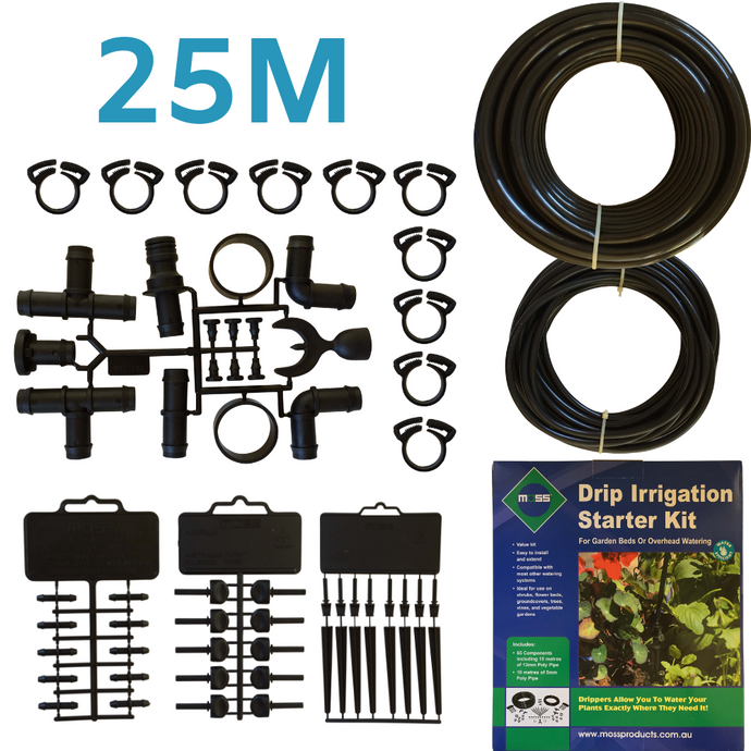 Micro Drip Irrigation Kit 25m (65pc)