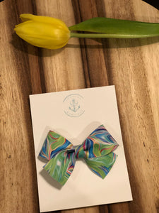 Watercolors in Mother of Pearl Bow