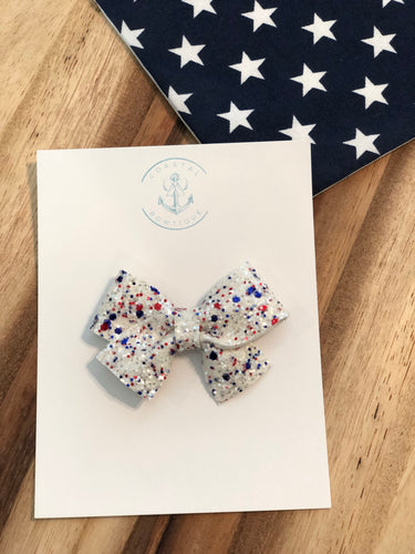 American Glitter in Pearl Bow