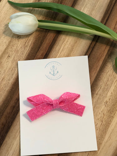 Lilly Pink Glitter in Knotty Bow