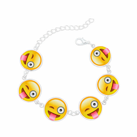 Bracelet 6 faces Emojis