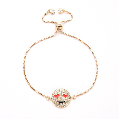 "Collier Cristal Or ""In Love"""