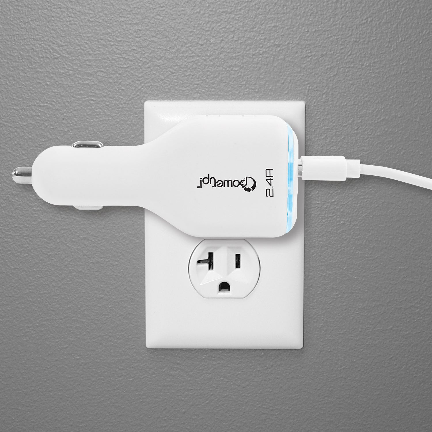 3-in-1 USB Charger with Lightning Cable 2.4A