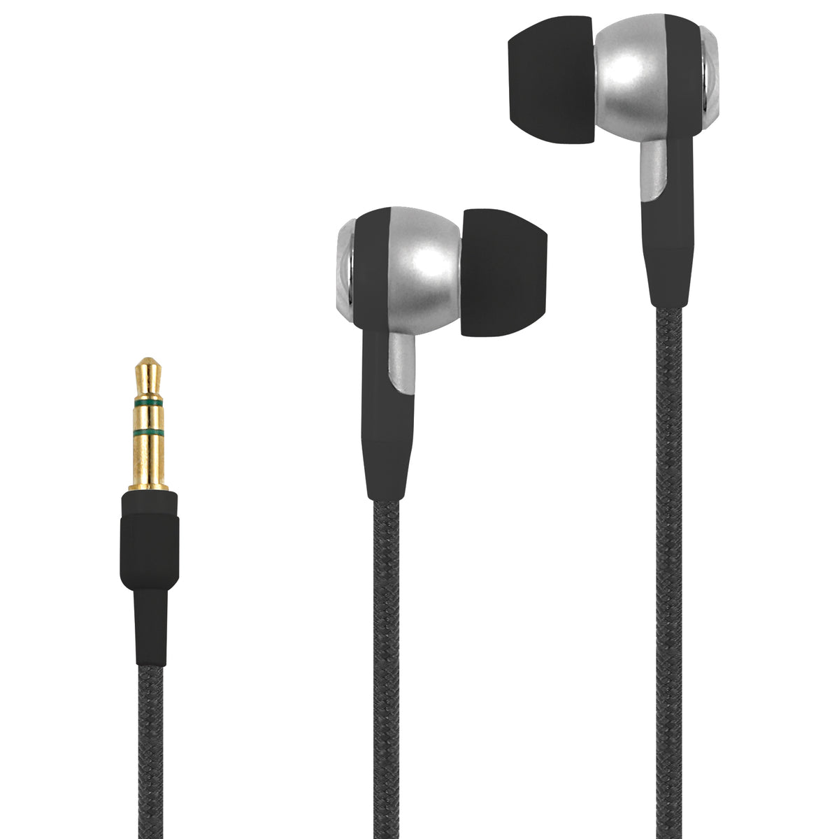 Stereo Earbuds with Heavy Duty Braided Cables