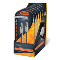 6-pack 4ft Braided 3.5mm Auxiliary Cable
