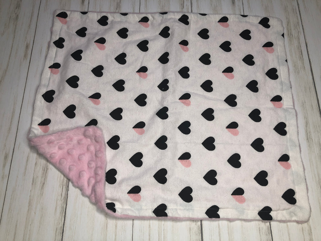 Hearts Dolly Blanket