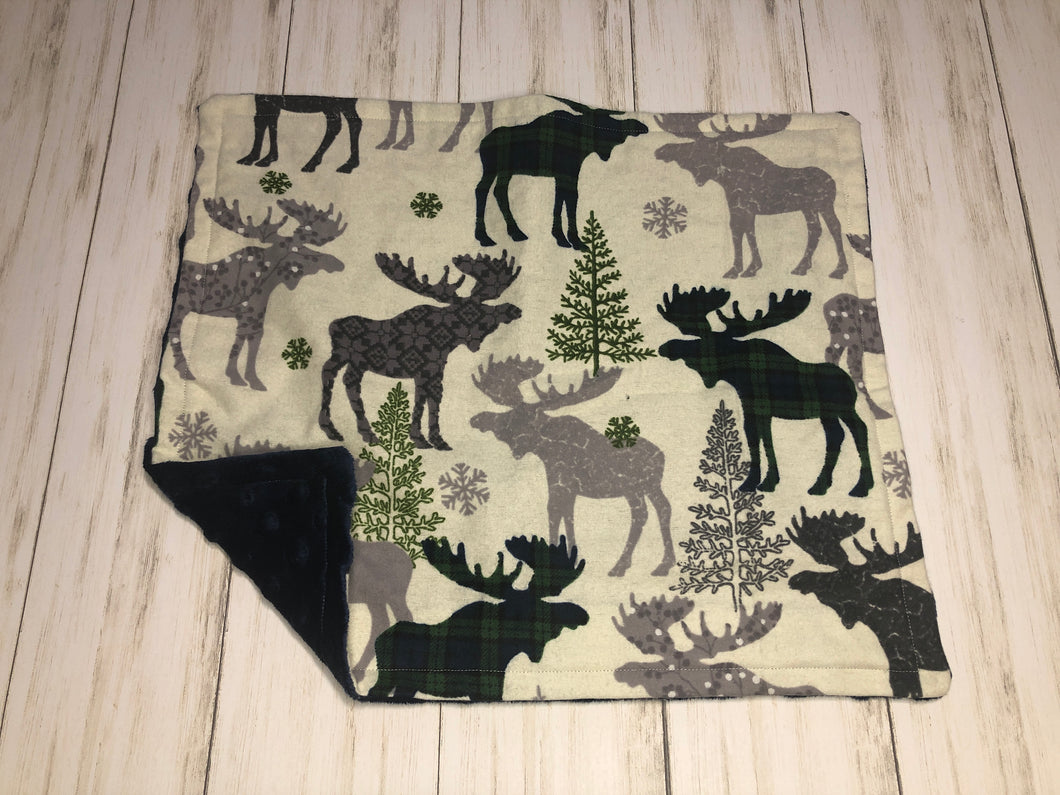 Plaid Forrest Animals Dolly Blanket