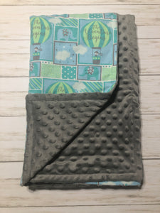 Mint and Gray Blanket
