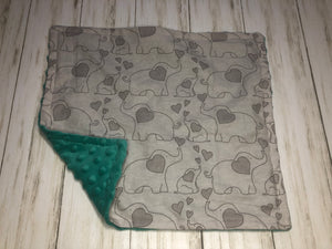 Gray Elephants Dolly Blanket