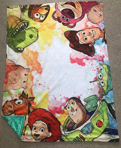Toy friends toddler size blanket