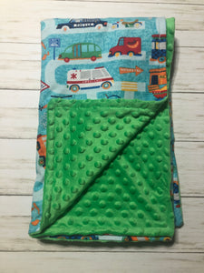 Green Cars Blanket