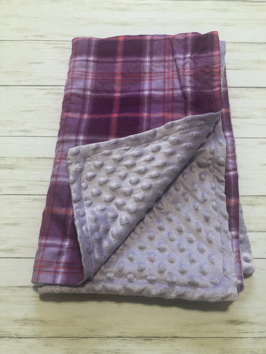 Purple Plaid Blanket