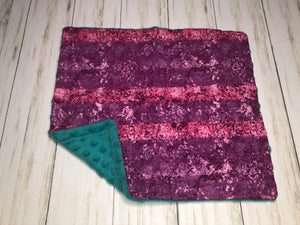 Purple and Pink Dolly Blanket