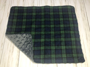 Green & Blue Plaid Dolly Blanket