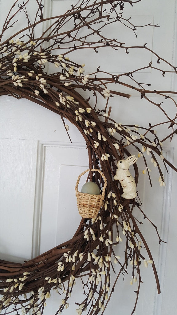 Easter Wreath, Spring Wreath for Front Door