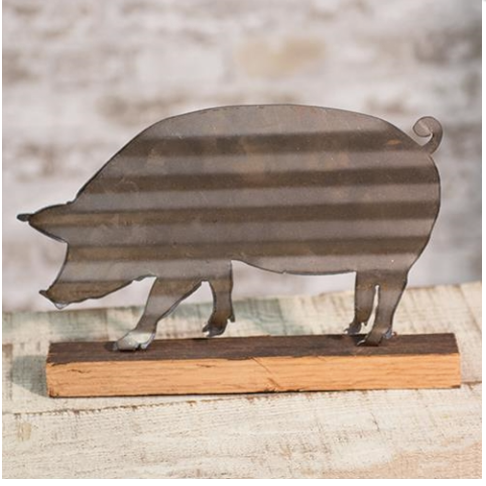 Corrugated Pig Sign, Gift for Pig Lover