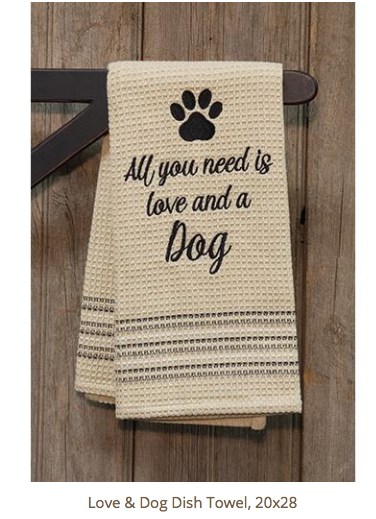 All You Need Is Love And A Dog Towel