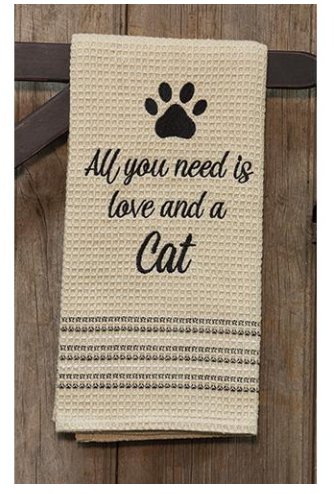 All You Need Is Love And A Cat Towel