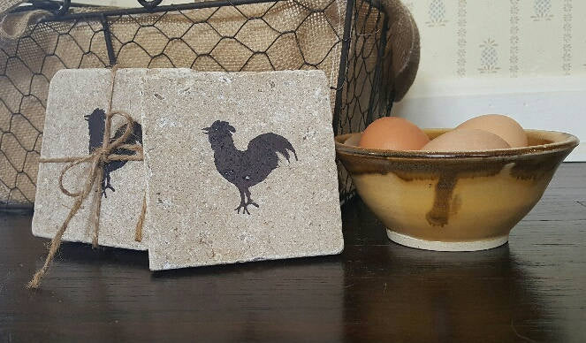Mother Gift, Chicken, Mothers Day, Chicken Decor, Chickens, Chicken Coasters, Stone Coasters, Gifts for Her, Mom Gift, Farmhouse Decor