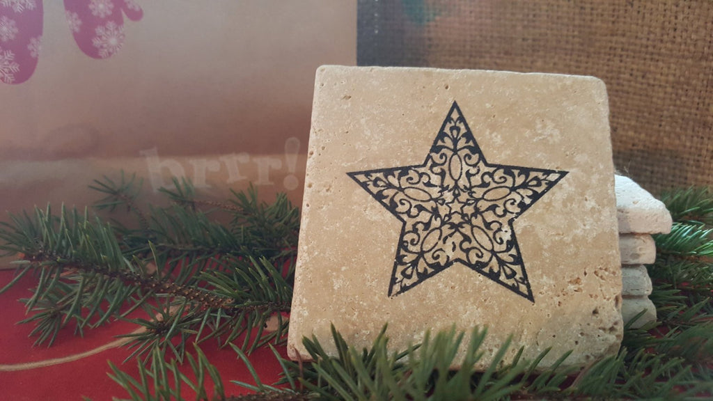 Holiday Gift Idea, Teacher Gifts, Star Coasters, Coworker Gifts