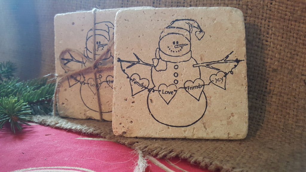 Snowman Gifts, Coasters, Holiday Gift ideas, Snowman Coasters, Christmas Gift Ideas, Home Decor, Teacher gifts, Bus Driver gifts, Snowman
