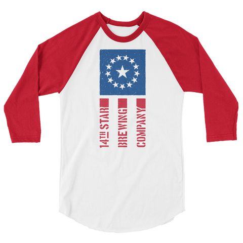 Red White and Brew Raglan Tee