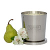 Flower & Pear 1kg Silver Candle