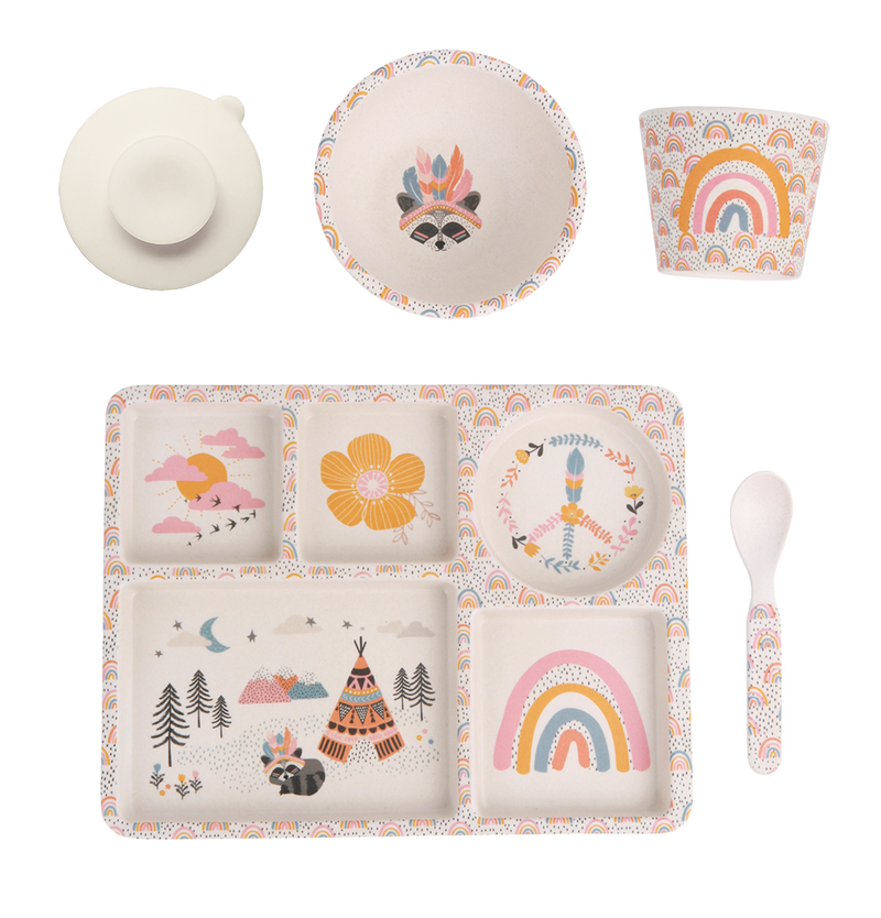 Divided Plate set - Gypsy Girl