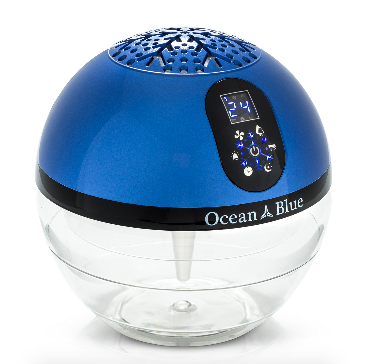 Ocean Blue Water Based Air Purifier Humidifier and Aromatherapy Diffuser with LED Screen