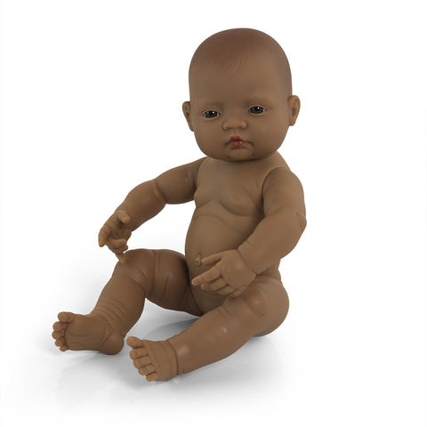Newborn Doll Latin American Girl - 40cm