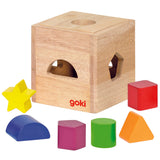 GOKI- Shape Sorting Cube Natural