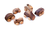 Mini Tree Vehicles Set of 6
