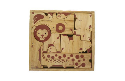Natural Animal Puzzle Play Tray