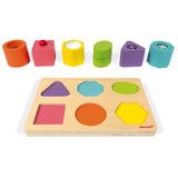 Janod - Shapes and Sounds 6 Block Puzzle