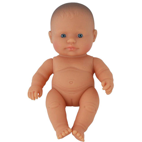 Miniland Doll - Caucasian Baby Girl 21cm  (undressed)