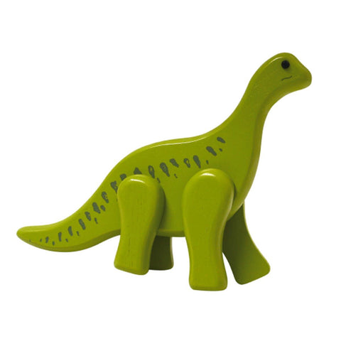 Toy wooden baby dinosaur