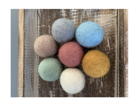 Earth Felt Balls 7pc