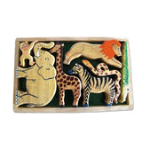 Zoo Animals Natural Play Tray