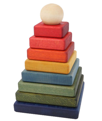 Wooden Story - Rainbow Stacking Pyramid