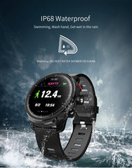 IP68 Waterproof  Smart Watch. With Tracker, Heart Rate & Blood Pressure Monitoring