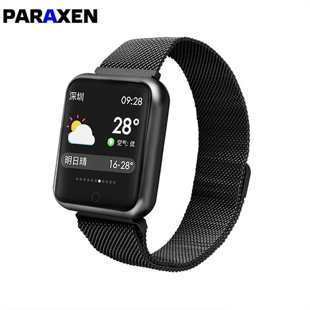 PARAXEN 2019 NEW Movement Blood Pressure Smart Watch P68 Color Heart Rate For iOS Android Smart Watch