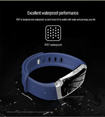 Color LCD Touch Screen Smartband. Waterproof. Bluetooth connection. - up-wrist