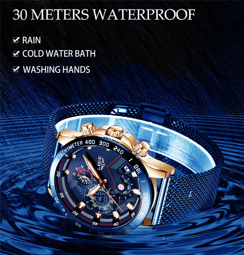 Complete Business-style Watch With Chronograph And Luminous Display. 30m Waterproof.