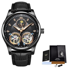 Analog Men Watch With Calendar And Moon Phase Indicator